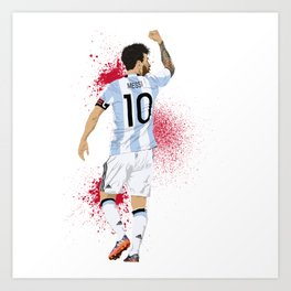 Messi Art Print