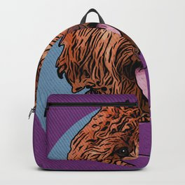 Icons of the Dog Park: Labradoodle Design in Bold Colors for Pet Lovers Backpack