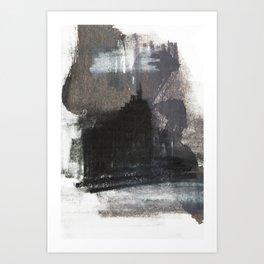 Abstract Texture, Black White & Grey Texture 1 Art Print