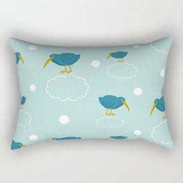 Kiwi birds on the clouds Rectangular Pillow