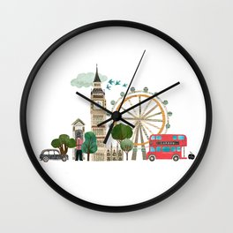 London collage Wall Clock