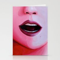 mouth Stationery Cards featuring Mouth by Massimo Merlini