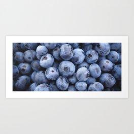 Beautiful juicy blueberry stack Art Print