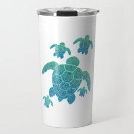 A Family of Sea Turtles Travel Mug