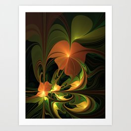 Fantasy Plant, Abstract Fractal Art Art Print