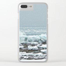 Low-Tide Winter Scene Clear iPhone Case
