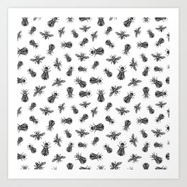 occult bees Art Print