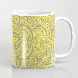 Illuminating Yellow & Ultimate Gray Pattern Coffee Mug