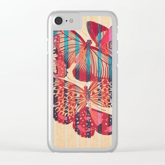 Butterflies in Strips Clear iPhone Case