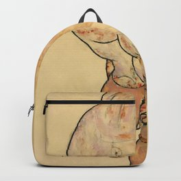 """Egon Schiele """"Female Nude Pulling up Stockings, Back View"""" Backpack"""