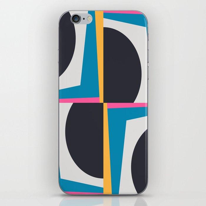 Modern Geometric 65 Blue iPhone Skin