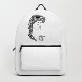 Reep What You Sew | Black and White Illustration Backpack