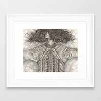 anxiety Framed Art Prints featuring Anxiety  by Brettisagirl