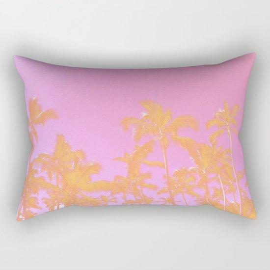Pink Pastel palms Rectangular Pillow