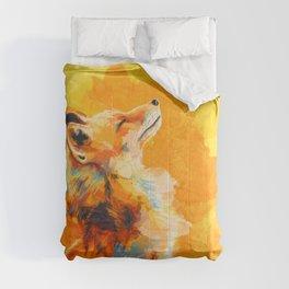 Blissful Light - Fox portrait Comforters
