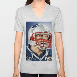 TOM BRADY / THE GOAT Unisex V-Neck
