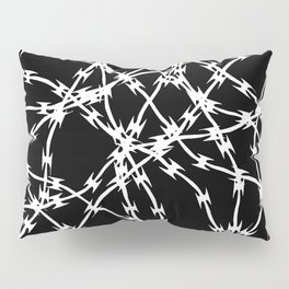 Trapped White on Black Pillow Sham