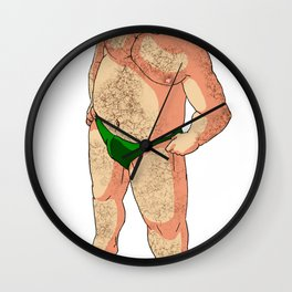 Ginger Bear Wall Clock