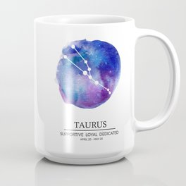 Taurus Watercolor Zodiac Constellation Coffee Mug