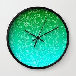 Science yo! Green Wall Clock