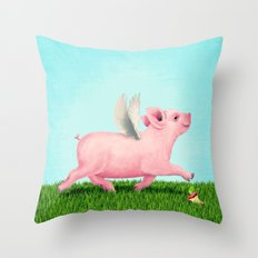 Pigasus Throw Pillow