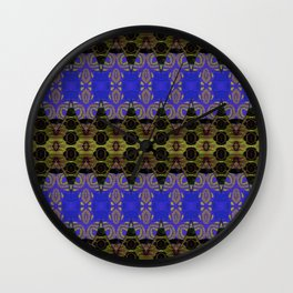 Ultra Lapis Blue Resonant Harmonic Boujee Boho Rococo Geometric Wall Clock