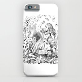 Alice's card attack iPhone Case