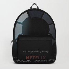 Black Mirror, minimalist tv series poster, alternative movie print, netflix Backpack