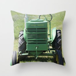 Crank Shaft Antique Tractor Throw Pillow