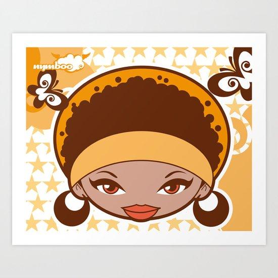 Bee-J Color2 Art Print