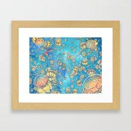 Jellyfish Lake Framed Art Print