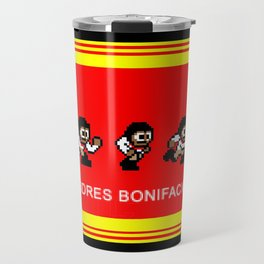 8-bit Andres 5 pose v2 Travel Mug