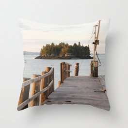 Sunset Downeast in Lubec, Maine Throw Pillow