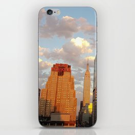 Manhattan Skyline and Sunset iPhone Skin