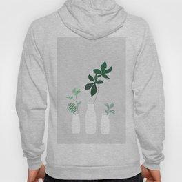 minimal plants in grey Hoody