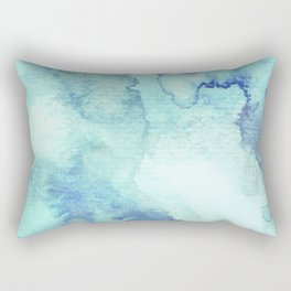 Watercolor pattern turquoise Rectangular Pillow