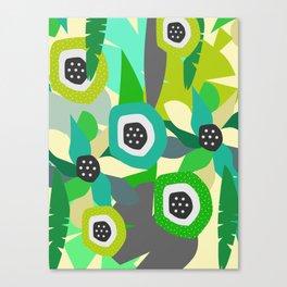 Bright tropical vibe Canvas Print