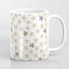 Grey and yellow flowers Coffee Mug
