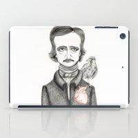 poe iPad Cases featuring Allan Poe by Pendientera