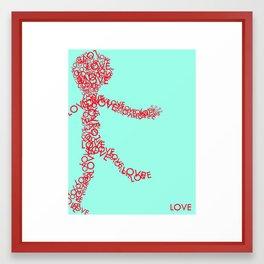 WordMan Trilogy: Love Framed Art Print