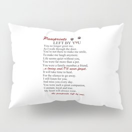 Forever On My Heart (pawprints) Pillow Sham