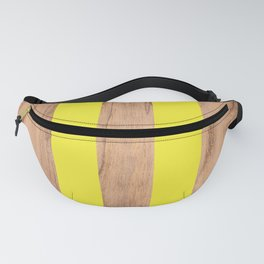 Striped Wood Grain Design - Yellow #255 Fanny Pack
