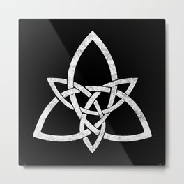 Rustic Celtic Knot - Inverted Metal Print