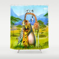 alex turner Shower Curtains featuring ALEX by Don Kuing