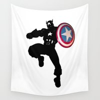 avenger Wall Tapestries featuring Captain by Crayle Vanest
