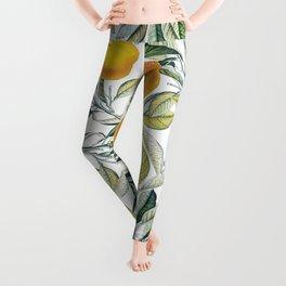Lemon and Leaf Pattern VI Leggings