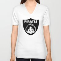 pirates V-neck T-shirts featuring Pirates  by Buby87