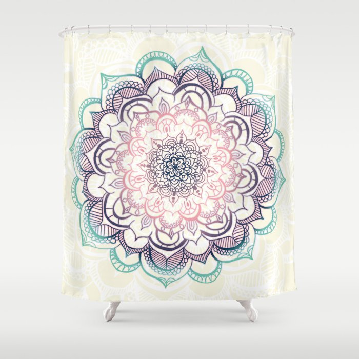 Mermaid Medallion Shower Curtain By Tangerinetane