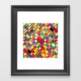 autumn rectangles Framed Art Print