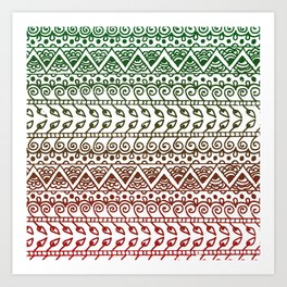 Holiday Henna Pattern Art Print